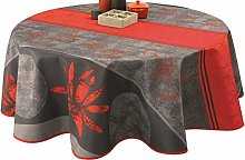 Le linge de Jules Stain Resistant Tablecloth RED