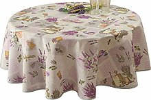 Le linge de Jules Tablecloth, anti-stain, Lavande