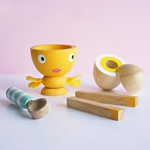 Le Toy Van - Painted Wooden Egg Cup And Soldiers