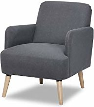 Leader Lifestyle Accent, Fabric, Charcoal Grey,