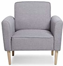 Leader Lifestyle Accent, Fabric, Light Grey, Chair