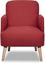 Leader Lifestyle Accent, Fabric, Red, Chair