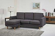 Leader Lifestyle Corner, Fabric, Dark Grey, Sofa