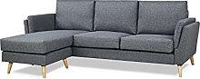 Leader Lifestyle Corner, Pebble Grey, Sofa