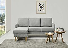 Leader Lifestyle Corner, Peppered Grey, Sofa