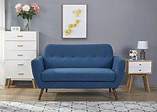 Leader Lifestyle, Polyester, Blue, Sofa