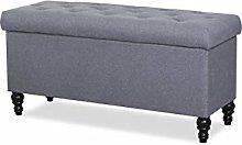 Leader Lifestyle Storage Bench, Grey, Ottoman