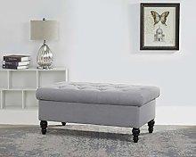 Leader Lifestyle Storage Bench, Light Grey,
