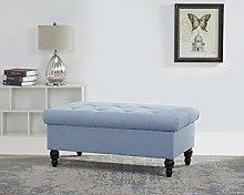 Leader Lifestyle Storage Bench, Powder Blue,