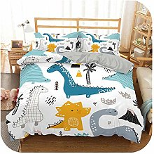leaf-only Baby Cot Bedding Set, 3d Dinosaur Family