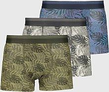 Leaf Print Trunk 3 Pack - S