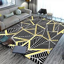 Leaf Rug Cheap Rugs Modern Black Carpet with