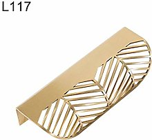 Leaf Shape Brass Gold Cabinet Pulls Furniture