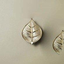 Leaf Shape/Solid Brass Knob Cupboard Pulls Drawer