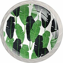 Leaf Tropical Green Drawer knobs Knobs for Kitchen