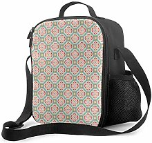 Leak-Proof Lunch Bag Tote Bag, Alhambra Adjustable