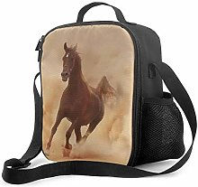 Leak-Proof Lunch Bag Tote Bag, Brown Horse Cooler
