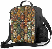 Leak-Proof Lunch Bag Tote Bag, Decorative Mandalas