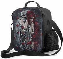 Leak-Proof Lunch Bag Tote Bag, Gothic Red Haired