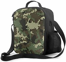 Leak-Proof Lunch Bag Tote Bag, Jungle Camouflage