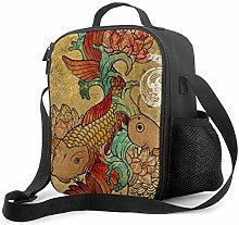 Leak-Proof Lunch Bag Tote Bag, Koi (version2)