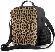 Leak-Proof Lunch Bag Tote Bag, Leopard Print