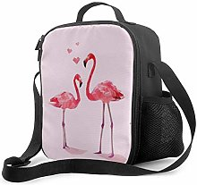 Leak-Proof Lunch Bag Tote Bag, Pink Flamingo