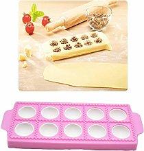 LEAMALLS 10 Holes Dumpling Maker Pie Ravioli Mould