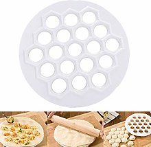 LEAMALLS 19 Holes Dumpling Maker Pie Ravioli Mould
