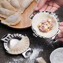 LEAMALLS 2 Pcs Stainless Steel Dumpling Maker Pie