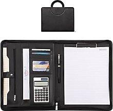Leather A4 Folder,Portable Large Capacity
