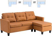 Leather Corner Sofa Set, L Shape Combination Sofa