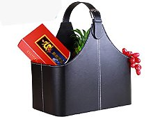 Leather Gift Basket,Magazine Newspaper