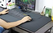 Leather-Like Desk mat (Black) Useful and Practical