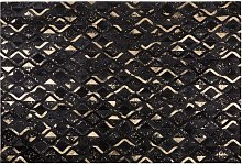 Leather Modern Glam Area Rug Living Room 140 x 200