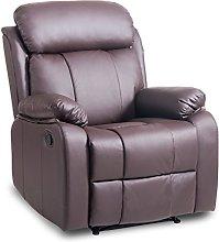 Leather Recliner Chair Tilt Sofa Push Back