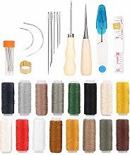 Leather Sewing Kit, 48Pcs Upholstery Repair Kit