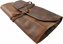 Leather Tool Roll, Big Tool Bag Snap Tool Barber