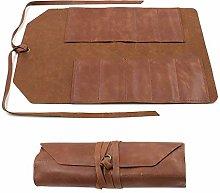 Leather Tool Roll, Big Tool Bag Snap Tool Barber