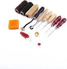 Leather Waxed Thread Sewing Needles Tool Kit for
