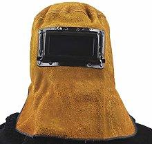 Leather Welding Helmet Breathable Heat Resistant
