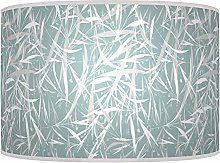 Leaves Floral Blue White Giclee Style Printed