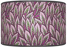 Leaves Floral Purple Green Giclee Style Printed