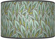 Leaves Floral Shades of Green Giclee Style Printed