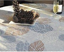 Leaves Nappe Coated Tablecloth Fleur De Soleil