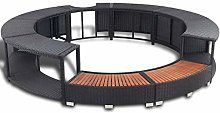 Lechnical Poly Rattan Spa Surround Hot Tub Spa