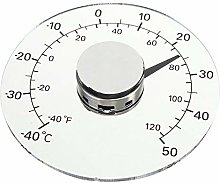 Lecimo Stick on Window Thermometer, Waterproof