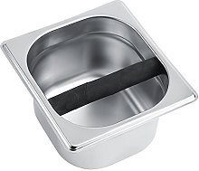 Lecxin Coffee Knock Box, Stainless Steel Holder