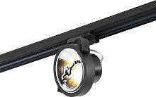 LED 3-phase track spotlight black 15W 2700K incl.