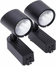 LED 7W Black Track light Tracking Rail Lamp Shop